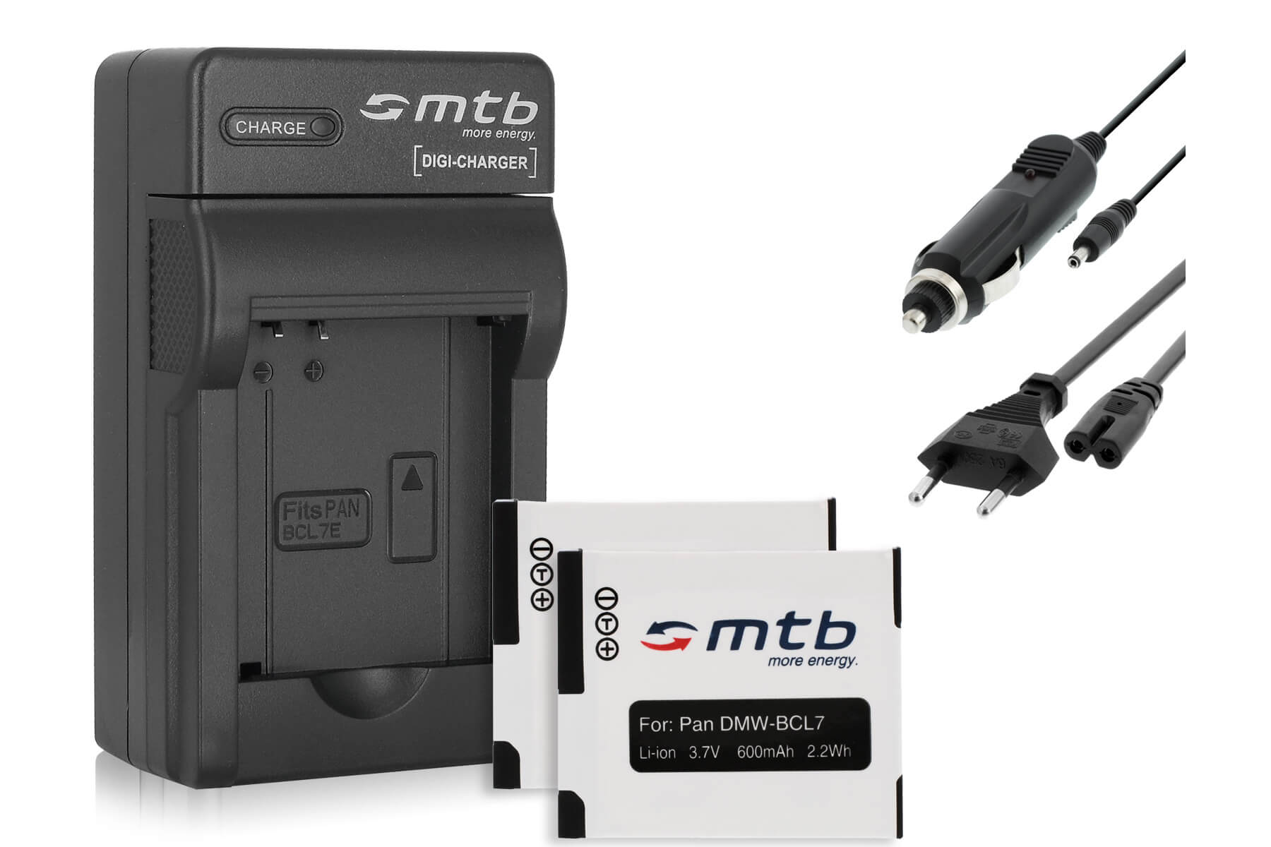 Cargador De Batería Para Panasonic DMW-BCL7 DMW-BCL7PP DMW-BCL7E Lumix DMC-F5 DMC-XS3