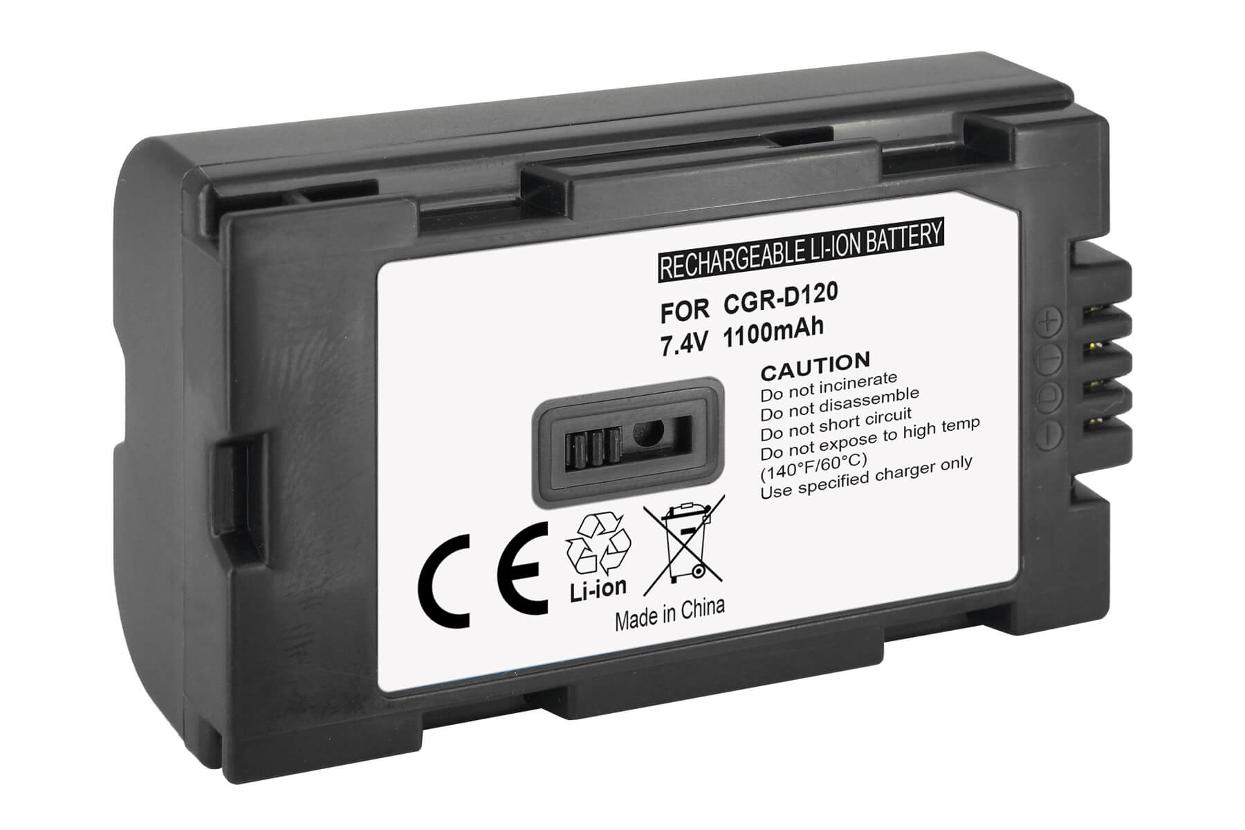 2in1 DUAL CARICABATTERIA VHBW DISPLAY CGR-D16 per Panasonic CGR-D14
