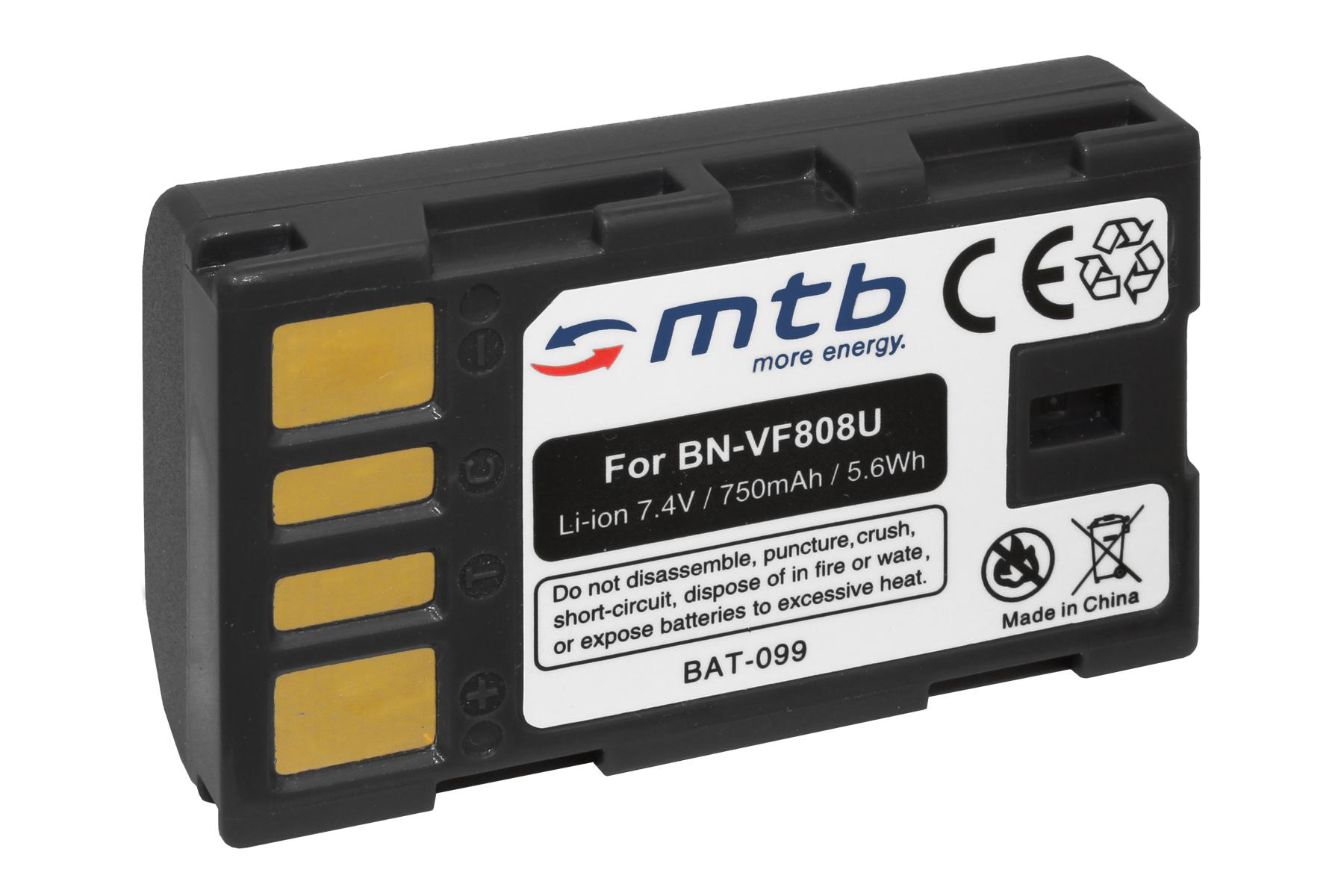 D725 Batería BN-VF808 D740 D750 D726 D727 VF808U para JVC GR-D720 D721