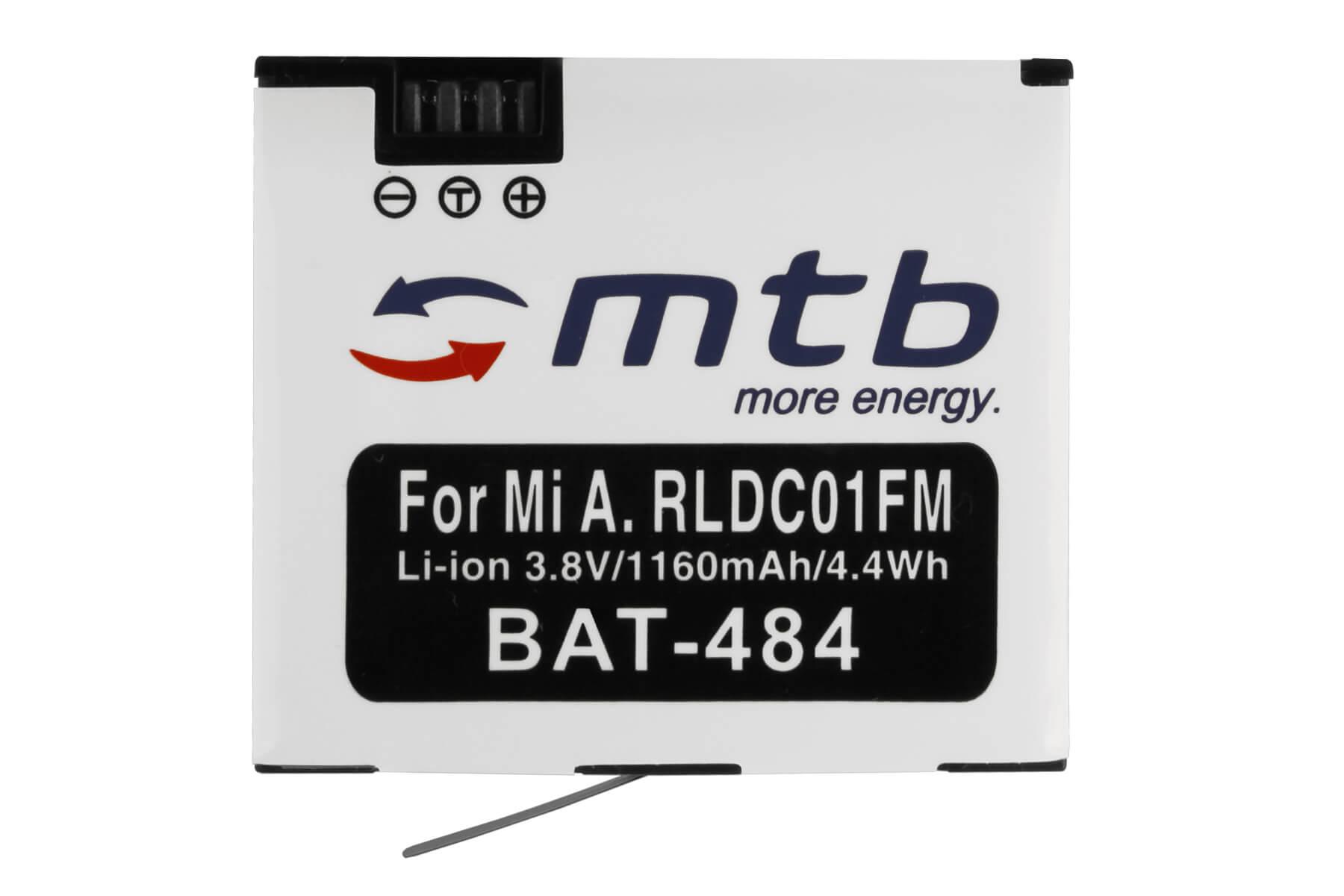 Bateria para Xiaomi Mijia Kamera Mini 4K YDXJ01FM RLDC01FM
