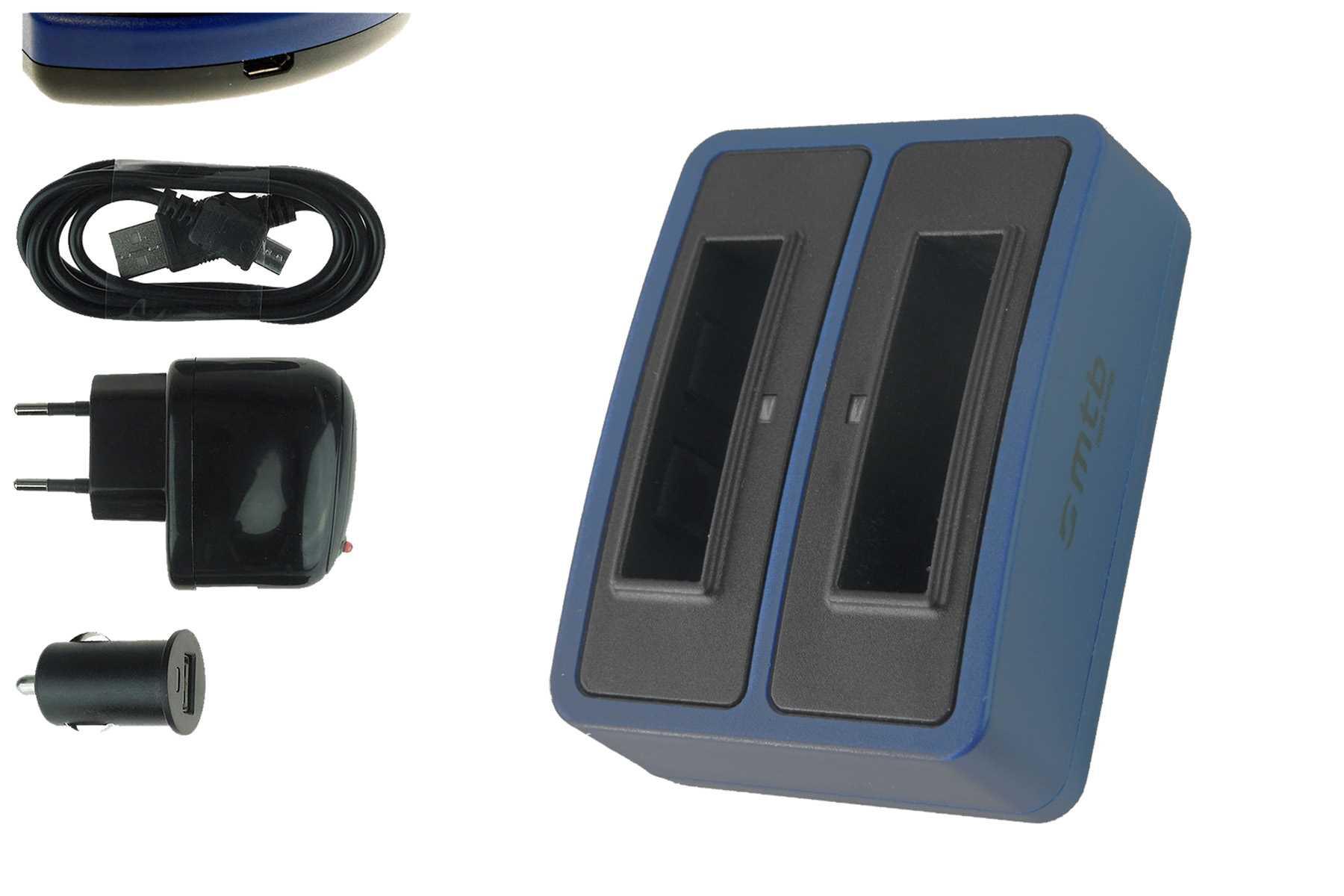 dual akku ladeger t usb rl410b f r maginon action cam ac. Black Bedroom Furniture Sets. Home Design Ideas