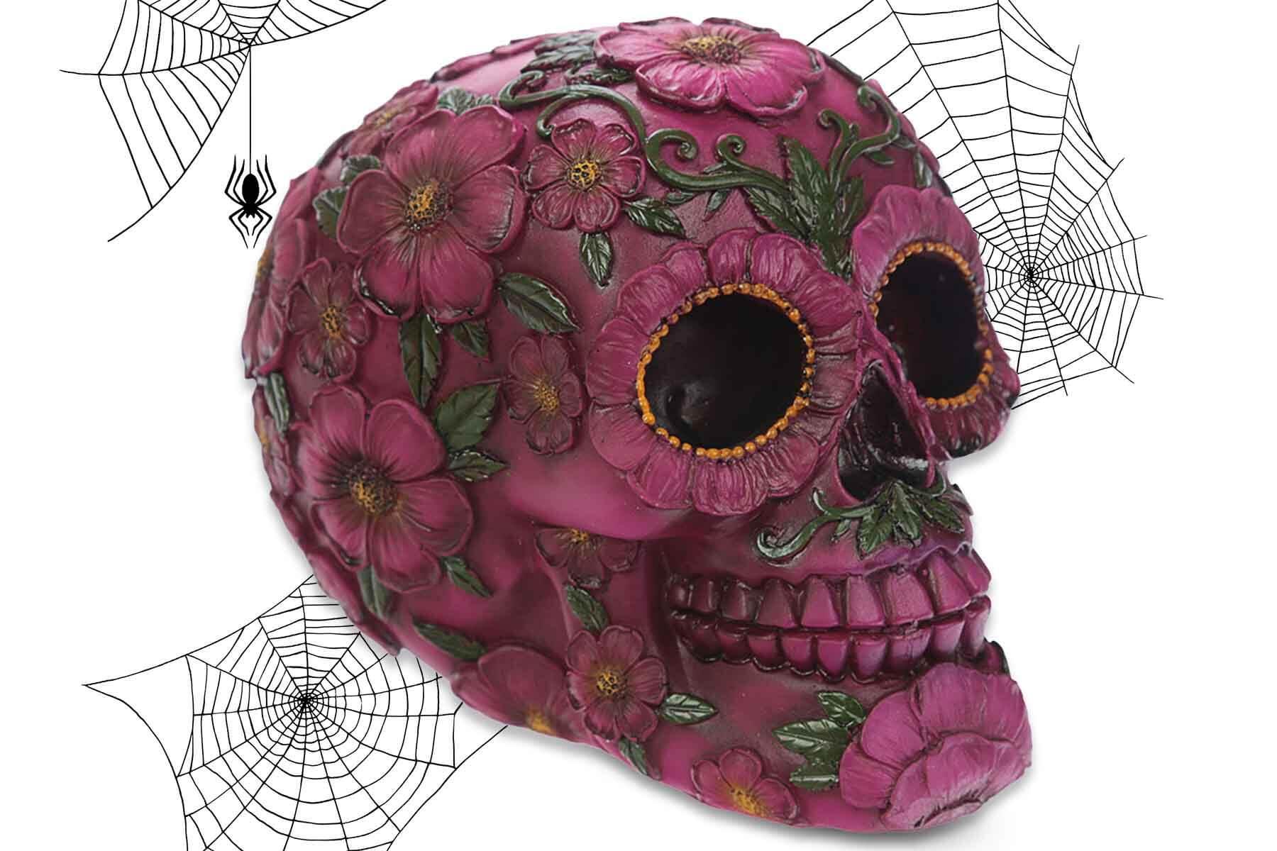 Totenkopf Totenschädel Flower Power Deko Skull Flower Power Sonnenblume