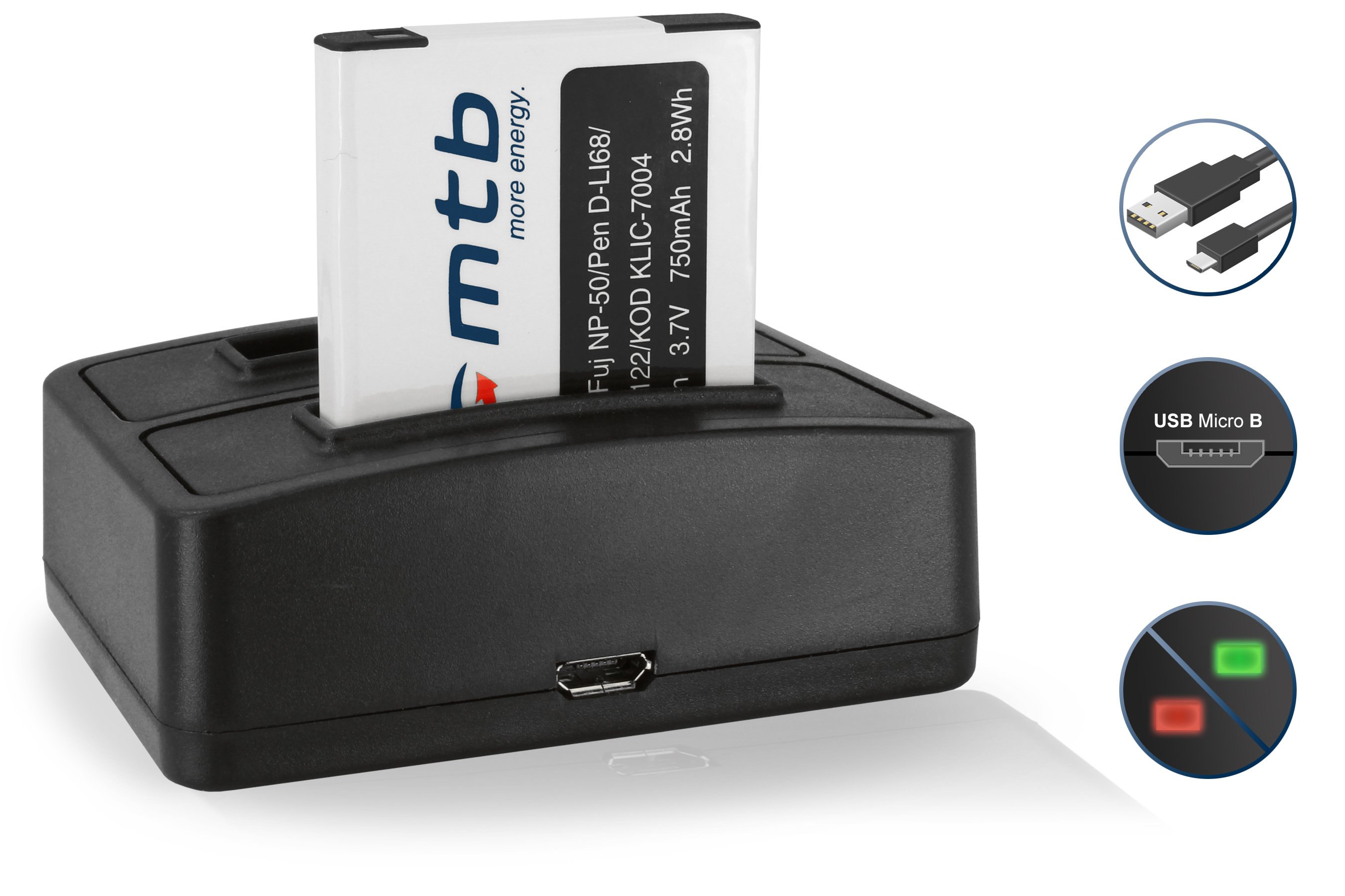 Batterie Np 50 Chargeur Double Pour Fuji Fujifilm