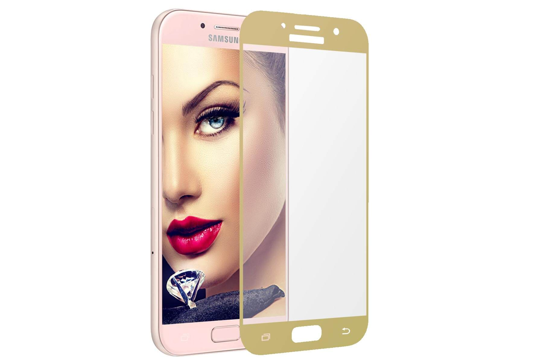 Details about Tempered Glass 9H Screen Protector for Samsung Galaxy A5 2017 (SM-A520F) - gold. See original listing