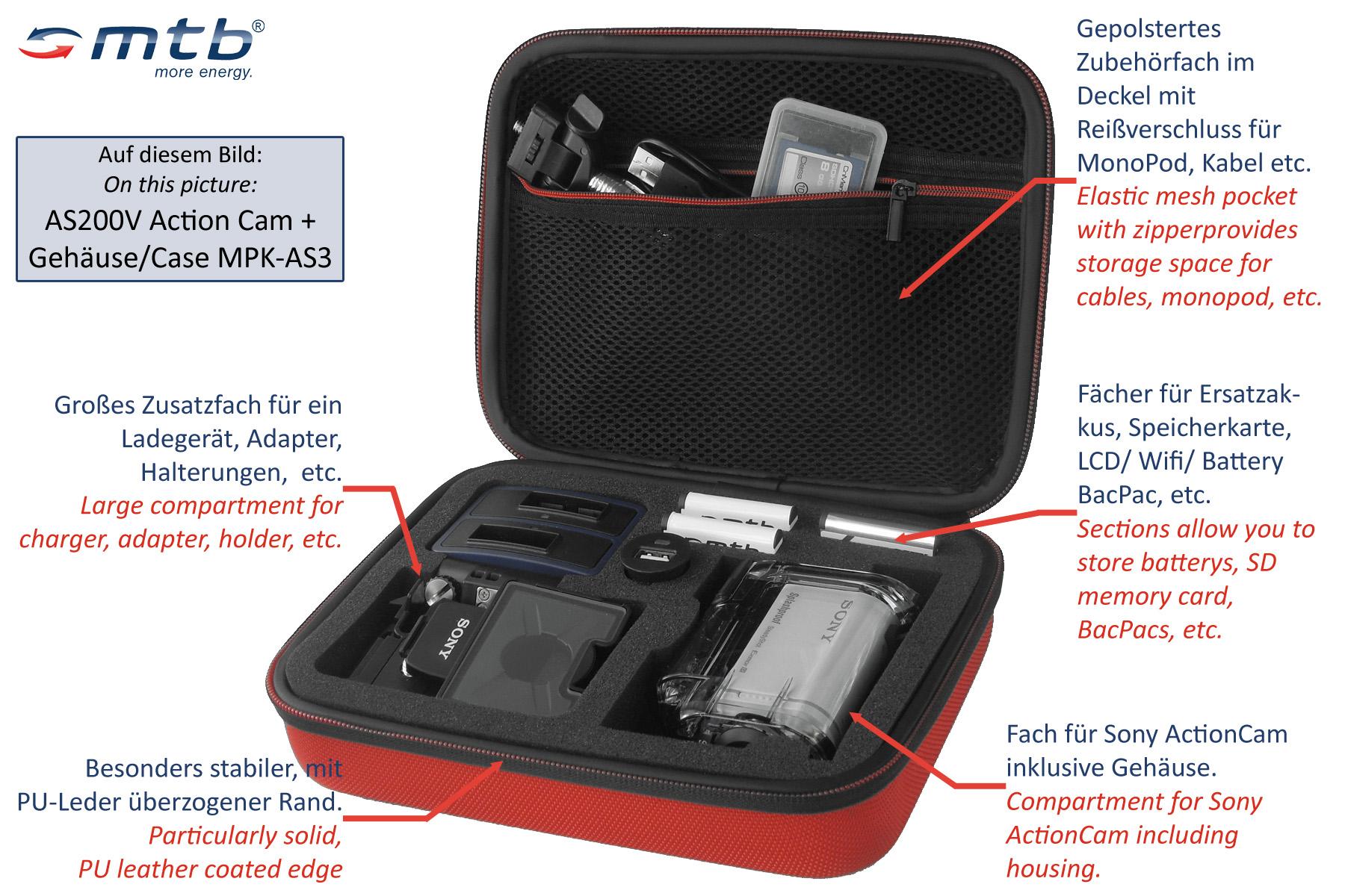 Batería 1.090mah para Sony fdr-x3000 Actioncam